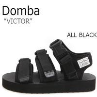 ドンバ サンダル DOMBA メンズ レディース VICTOR ビクター All BLACK オール...