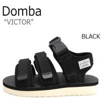 ドンバ サンダル DOMBA メンズ レディース VICTOR ビクター BLACK ブラック F-...