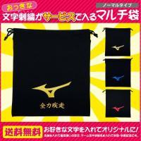 刺繍が付いてこのお値段!!ミズノ MIZUNO マルチ袋 ミズノ ランバードマークタイプ 野球用品