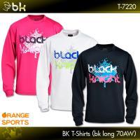 f52aae276439 ブラックナイト バドミントン 長袖Tシャツ BKTシャツ bkロング70AW T-7220 男女兼用 black knight ロングTシャツ テニス  スカッシュ