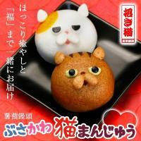 ■商品内容:薯蕷饅頭ブサカワ招き猫(ショコラ、こしあん)各1個(1個当たり:直径約4.5cm、高さ約...
