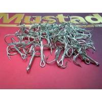 Mustad ラウンドベンドトレブルフック  #4 50本セットです。 ノルウェーの老舗 Musta...