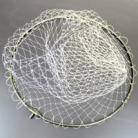 強化アルミ 四つ折り玉枠(枠青/網白) 50cm 網付き 白網(190142)  4つ折り可能で収納...