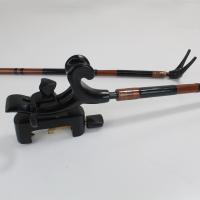 段巻,竹製竿掛け 1本半 + 黒檀弓型万力セット [40064]   スタンダードで人気の高い定番セ...