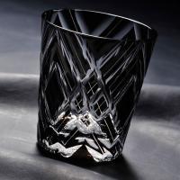 名入れ プレゼント グラス 人気のブラックのグラスは男性への贈り物に!底面は初めからレースのような綺...