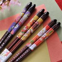 太めのお箸が持ちやすく使いやすさも抜群! 綺麗な色紙をはったような色彩豊かなお箸です! 明るくポップ...