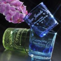 名入れ プレゼント ギフト 琉球ガラスロックタンブラー   しっかりとした厚みで普段にカジュアルで使...