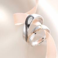 プレゼント シルバー リング 誕生日 結婚祝い 内祝 二つのリングを合わせると一つのハートになるペア...