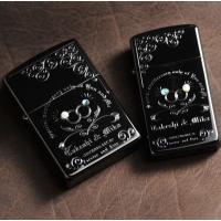 名入れ プレゼント ブラックZIPPOカップルペアセット-貴方と私の特別な記念日   人気のブラック...