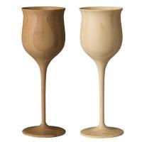 プレゼントに最適なおしゃれな木製ワイングラス ペアグラス♪ RIVERET 竹製のワイングラス ペア...