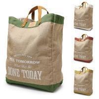 便利でおしゃれな自然素材の麻バッグ♪ TOUGH BAG タフ バッグは、吸湿性、放湿性に優れた自然...