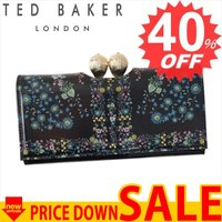 テッドベーカー 財布 長財布 TED BAKER KERREN 138181 PRINTED TEARDROP BOBBLE MATINEE PURSE UNITY F 0 BLACK XL35【型式】1460368181015