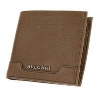 ブルガリ 二つ折り財布 BVLGARI ブルガリ 34673 GRAIN/BRW 二つ折り財布  メンズ