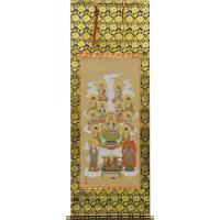 真言宗用十三佛の掛け軸です  ◆サイズ 仕様 長さ151cm×幅54.5cm (尺五・五尺丈) 新絹...