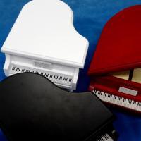 曲目選択 グランドピアノオルゴール(黒/ワイン/ナチュラル)小物入れ