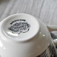 イギリス食器バーレイ社 ブラックウィロー ブレックファースト カップ&ソーサー 300ml|ostuni|03