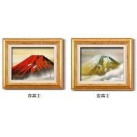 伊藤渓山 日本画額F6金 13333・赤富士|otafuku