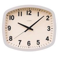 日本製 CHAMBRE R-SQUARE CLOCK スクエアクロック 掛け時計 GRAY・CH-028GY|otafuku