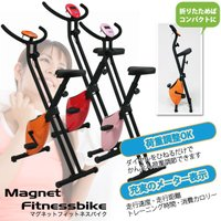 ★折畳み式マグネットフィットネスバイク★  ★選べるカラー! 3色の中よりお好きな色をお選び下さい。...