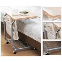 ベッドサイドの補助テーブルとしてピッタリのベッドテーブル。高さ調節可能で、お好みの高さに調節できます...