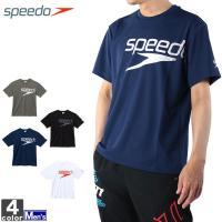 ★スピードの半袖シャツ!  ●グラデーションをきかせたSpeedoロゴを大きく配置したベーシックTシ...