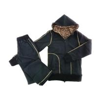 サウナスーツ 3層構造 セットアップ 超発汗 ポリウレタン樹脂 Sトールサイズ164-178cm用 リバーシブルブラック/ヒョウ柄豹