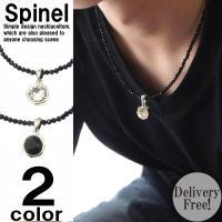 天然石を使用した人気ネックレスが入荷です。 ヘッドが2種類、ブラックオニキス、クリアクリスタルからお...