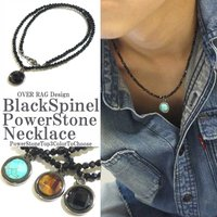 天然石を使用した人気ネックレスが入荷です。 ヘッドが3種類、ブラックオニキス、ターコイズ、タイガーア...