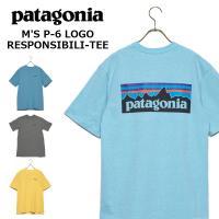 パタゴニア Tシャツ M'S P-6 LOGO RESPONSIBILI-TEE ロゴ レスポンシビリティー シャツ 39174 メンズ 2019SS ブルー グレー イエロー patagonia