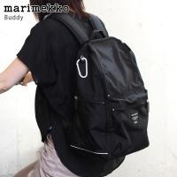 マリメッコ リュック バッグ Buddy ブラック 正規販売店   ■サイズ:W28×H40(cm)...