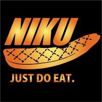肉(niku)Tシャツ / 断然 肉派!なあなたにぴったりの おちゃめTシャツ です。 発送まで3週間ほどかかります!