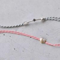 シルクの京組紐を使用したカジュアルなペアブレスレット。