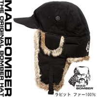 350BLK MAD BOMBER hat ロシア帽子 マッドボンバーハット ラビットファー100%...