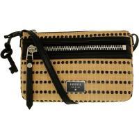 ハンドバッグ 財布 鞄 ウォレット フォッシル Fossil レディース ミニ Dawson ボディバッグ レザー クロス-Body バッグuette Black