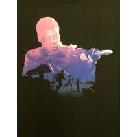 海外セレクション メンズ Tシャツ Star Wars Force Awakens Finn Silhouette Officially Licensed Graphic T Shirt