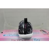 アスレチック スケッチャーズ Skechers Flex Atomic-Sweet Bouquet 22858/BKW ブラック/ホワイト Memory Foam
