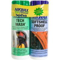 デイパック  Nikwax Tech Wash and Softshell Proof Wash-In Duo-Pack 300 ml
