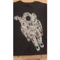 Tシャツ ビリオネアボーイズクラブ  BBC Bilライオンaire Boys Club - ネオン ブラック Acrylic Tシャツ MSRP 50