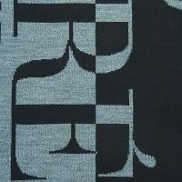 メンズ ファッション小物スカーフ・マフラー・ストールGianfranco Ferre SCR 01949 ブラック/グレー ニットted Signature ウール メンズ' スカーフ