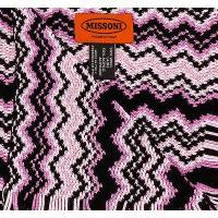 メンズ ファッション小物スカーフ・マフラー・ストールMissoni D4896 0003 ピンク ウール クロシェット ニット ジグザグ スカーフ