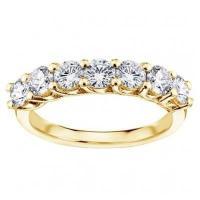 ダイヤモンド 宝石 アンブランデッド Yellow Gold 1 1/3ct TDW Round Diamond Braide Prong Set Wedding Band
