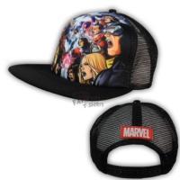 帽子 マーベルコミックス Marvel Heroes vs Villians Black Trucker Marvel Comics Licensed Trucker Hat Cap