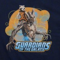 Tシャツ ガーディアンズオブギャラクシー Guardians Of The Galaxy Movie Rocket And Groot Licensed Adult Shirt S-XXL
