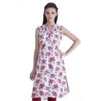 海外セレクション メンズファッション Handmade In-sattva MB Women's Ethnic Rose Printed Kurta Tunic (India)