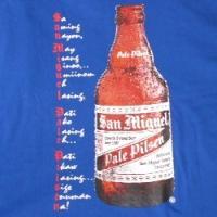 Tシャツ サンミゲルビール San Miguel4 ブルー(メンズL)