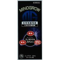 ミノグロウ 60ml ミノキシジル5% 【第1類医薬品】 薬剤師対応 発毛 育毛 脱毛 抜け毛 ミノグロー リアップx5も販売中 発毛剤 送料無料