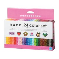 ナノビーズ 80-63044 24色セット (カワダ アイロンビーズ)
