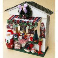 作って楽しい、飾って嬉しいクリスマスキットです。サンタミニチュアを使用した人気のクリスマスドールハウ...