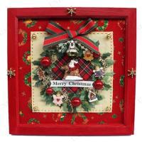 作って楽しい、飾って嬉しいクリスマスキットです。かわいいリースのフレーム♪お部屋のクリスマスデコレー...