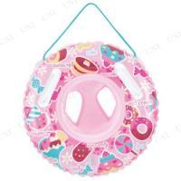 乳幼児のお子様のプール遊びや海水浴に!美味しそうなスイーツのイラストが可愛いベビー浮き輪です。水に落...